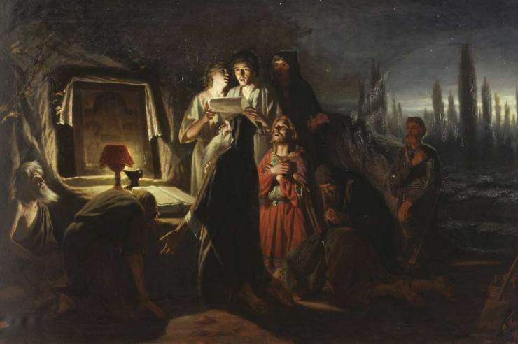 Первые христиане в Киеве. художник Перов В.Г. 1880 г.
