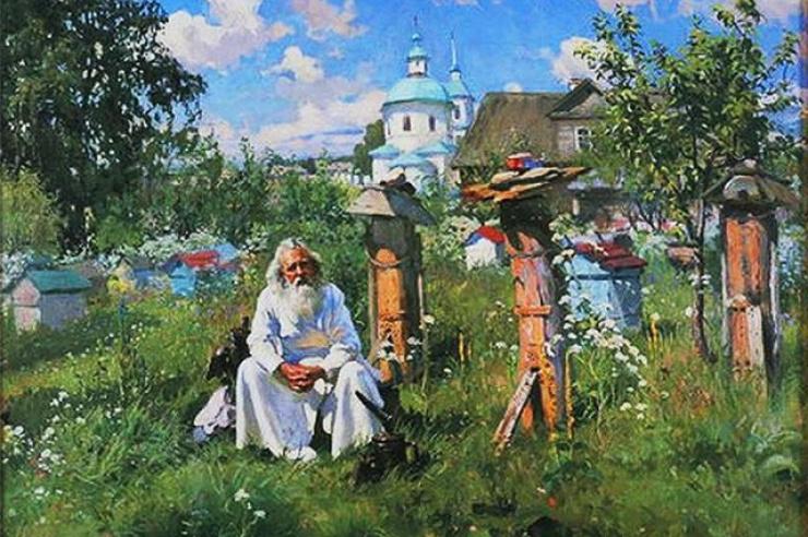 На пасеке. А.В.Маковский